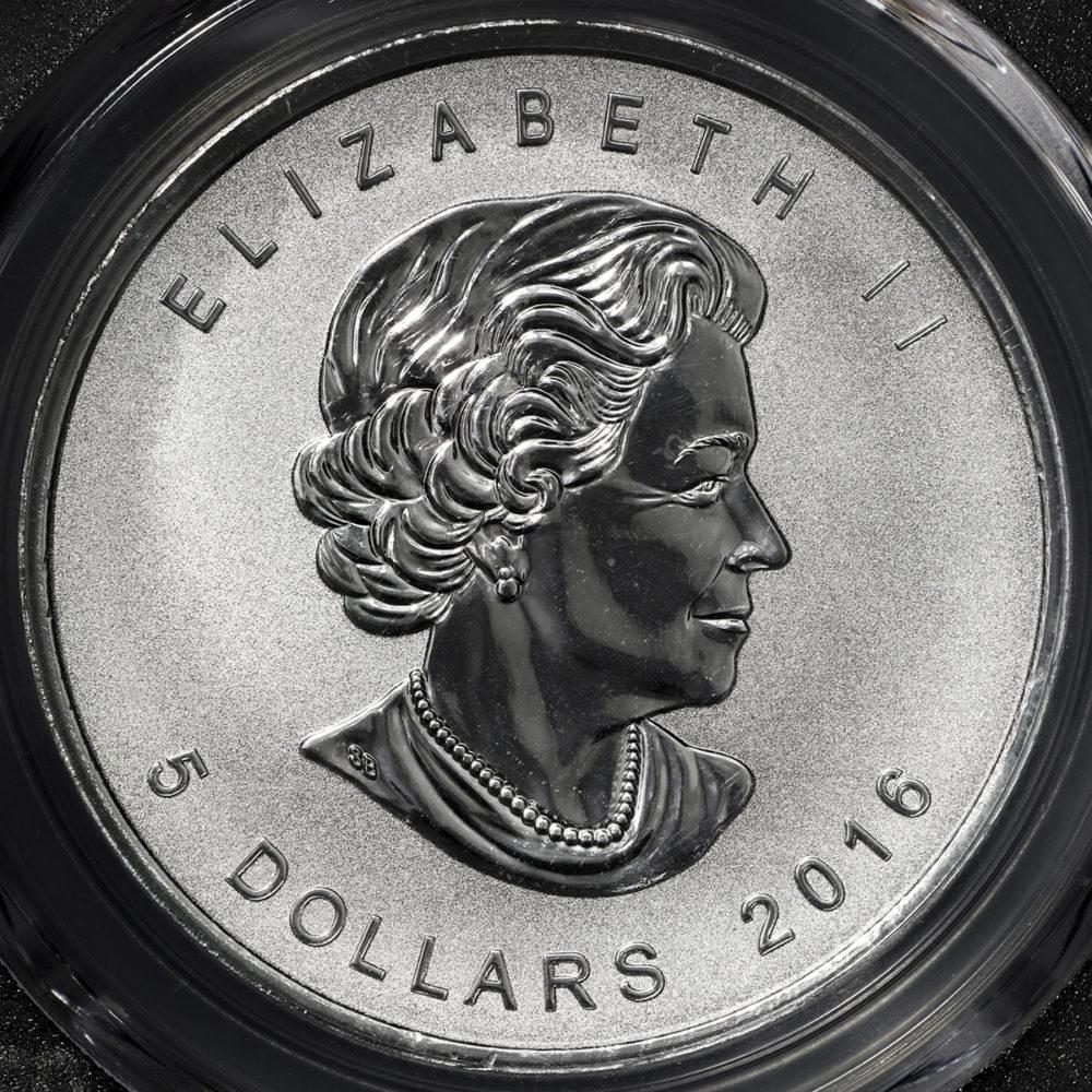 メイプルリーフ銀貨 パンダの刻印入り 2016年(1オンス)