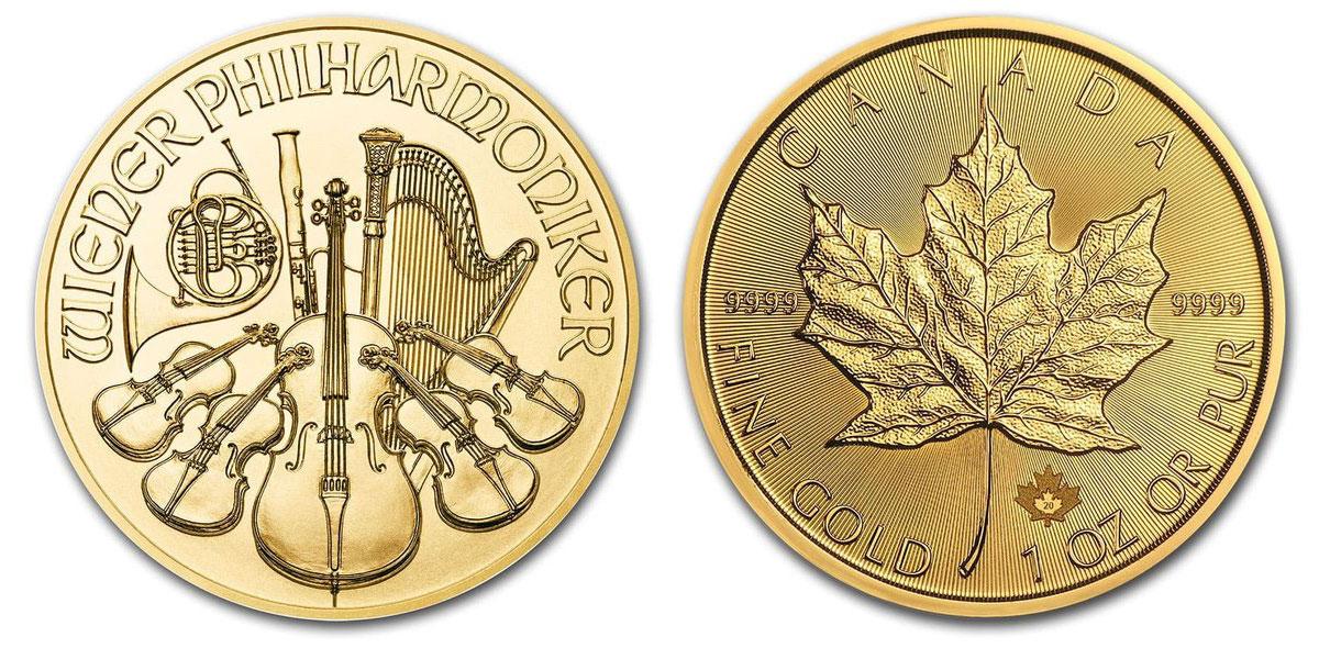 ウィーン金貨とメイプルリーフ金貨
